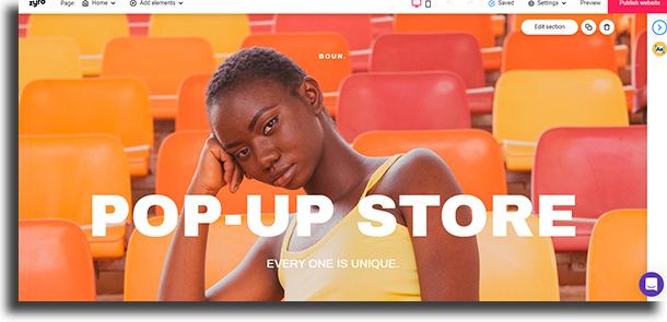 Por que usar zyro Como criar um site de vendas
