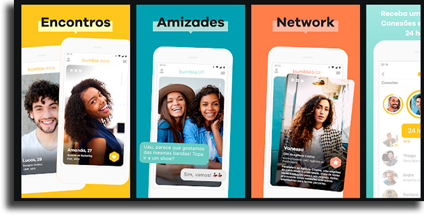 Bumble apps de relacionamento para se distrair durante a quarentena