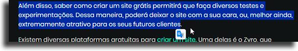 icone como usar a extensão do Google Tradutor no Chrome