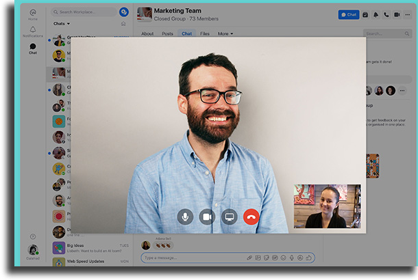 Facebook Workplace alternativas ao Zoom