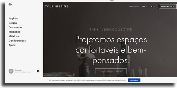 Edite e altere o template escolhido criar sites sem a ajuda de um especialista