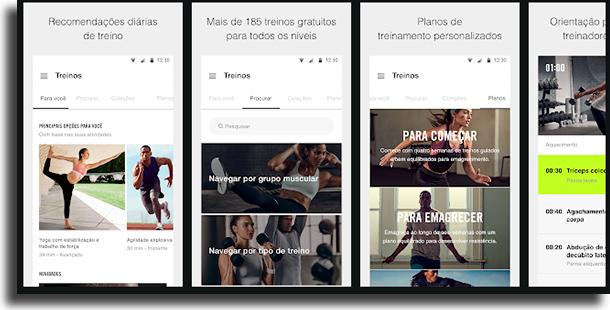 Nike Training Club apps de exercícios grátis