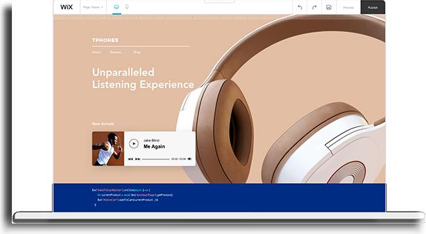 Wix Plataformas para criar sites sem custos