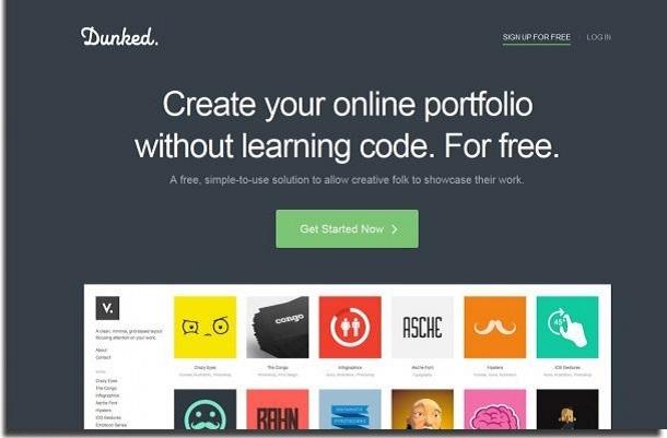 criar site com dunked