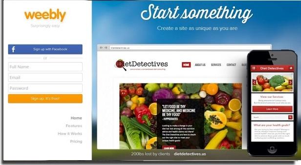 criar site com weebly