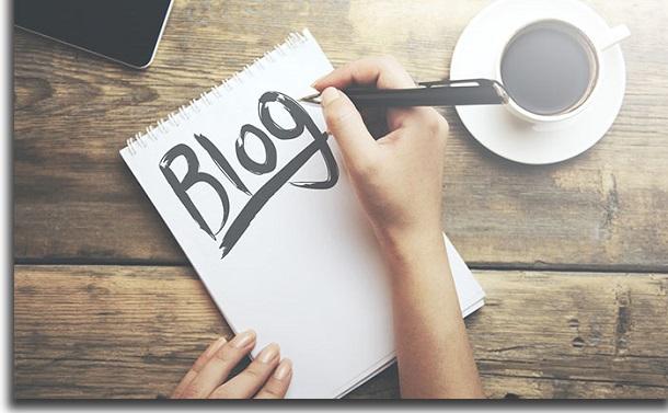 criar um blog do zero nome