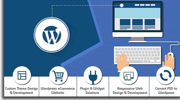 criar sites com ferramentas grátis wordpress