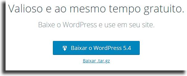 Instale o WordPress