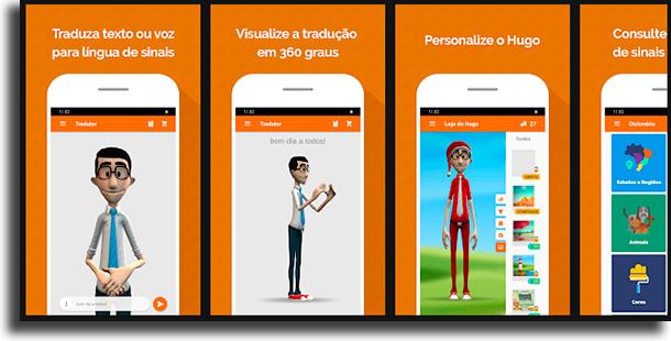 Hand Talk tradutor para língua brasileira de sinais