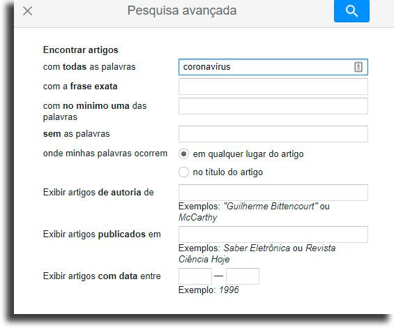 Busca avançada Como fazer pesquisa no Google Acadêmico?