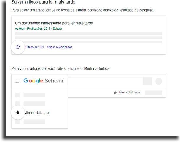 minha biblioteca Google Acadêmico