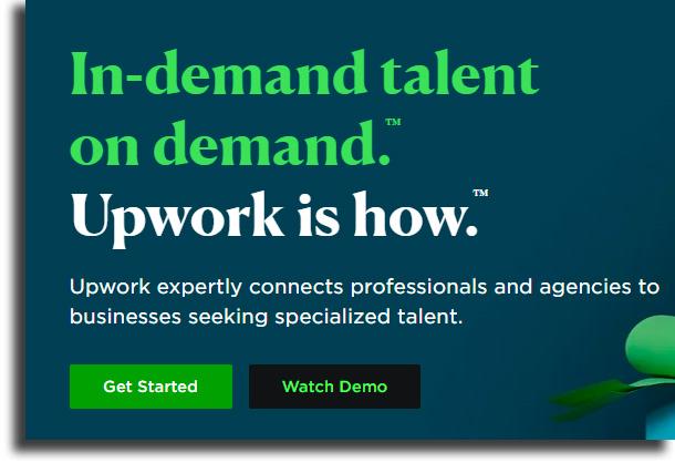 UpWork sites para fazer sua casa o seu local de trabalho