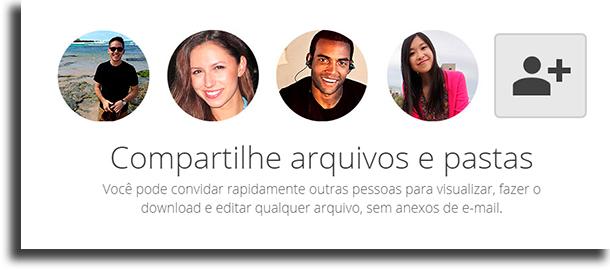 Colaboração aplicações do Google Drive