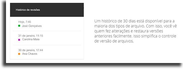 Versões aplicações do Google Drive