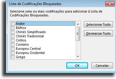 Bloquear mensagens em alfabetos desconhecidos Como bloquear um email no Outlook