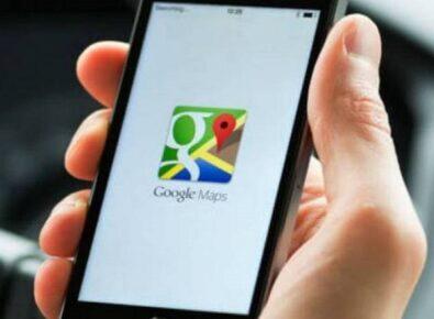 Google maps com música capa