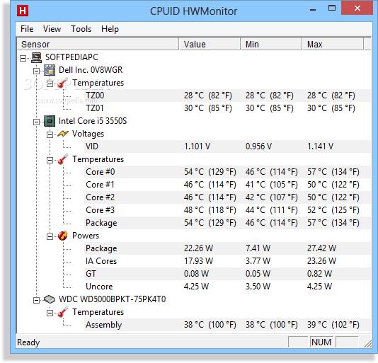 medir temperatura de la PC