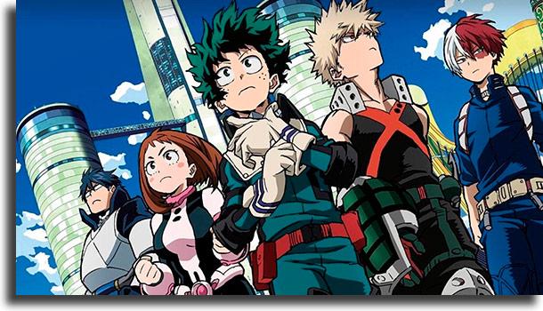 Boku no Hero Academia melhores animes de sempre