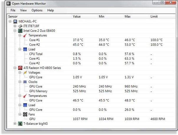 temperatura de la computadora