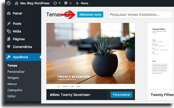 Escolha o tema para o seu site Como criar um site com WordPress
