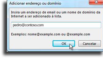 Adicionar nomes indesejados Como bloquear um email no Outlook
