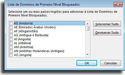 Bloquear mensagens de determinados países Como bloquear um email no Outlook