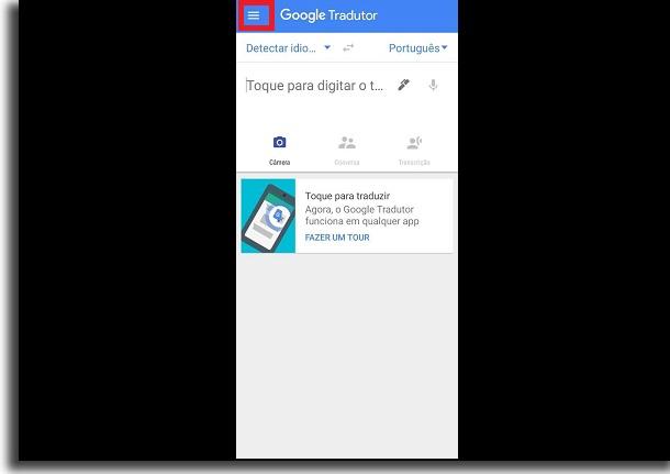 como usar o Google Tradutor offline