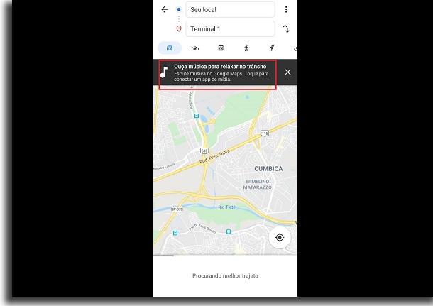 música no google maps