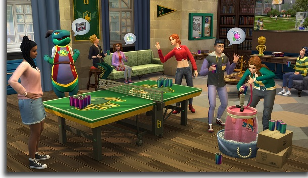 New objects, clothes, and hair The Sims 4: Discover University