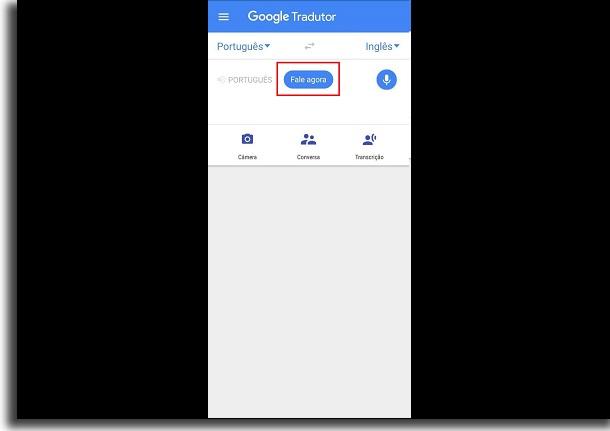 traduzir voz com o google