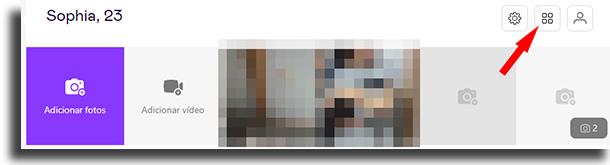 Galeria excluir todas as suas fotos de uma só vez no Badoo