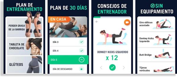 30 días fitness en casa aplicación
