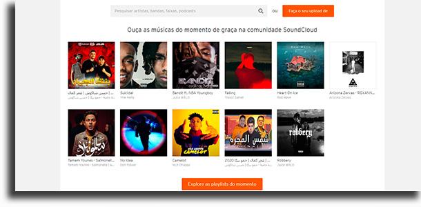 SoundCloud sites para baixar música grátis em mp3