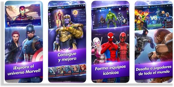 juegos para iPhone y iPad marvel future fight