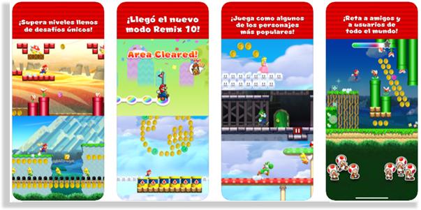 juegos para iPhone y iPad super mario run