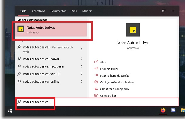 adicionar um lembrete no windows notas