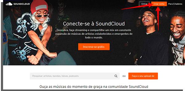 acesse o soundcloud