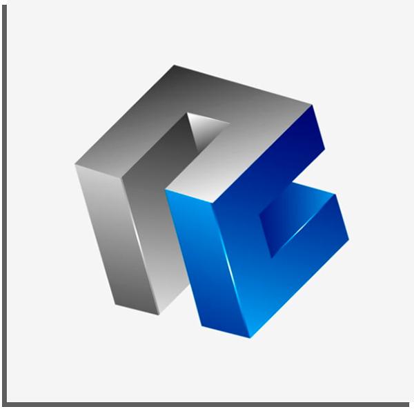 logo geométrico 3d