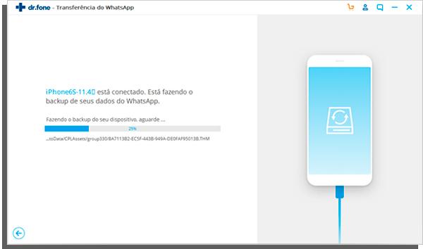 como fazer backup do whatsapp para pc com dr fone