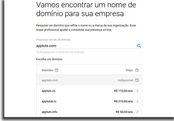 pagar para criar um email