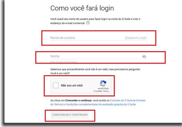 criar email personalizado usando o gmail