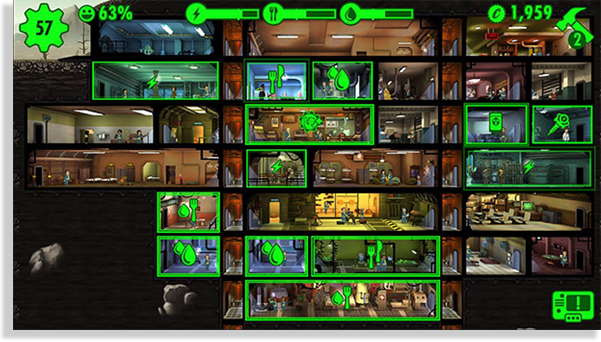 juegos para iPhone y iPad Fallout Shelter