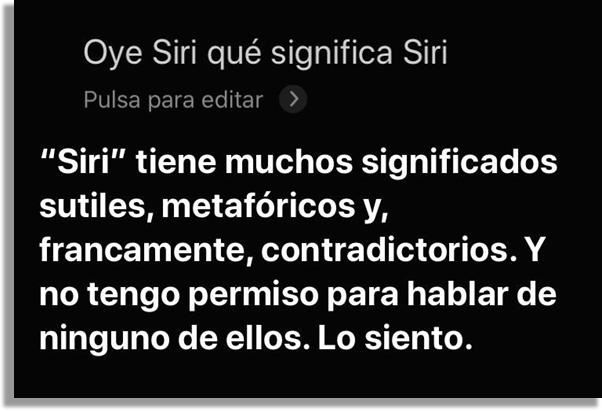 significado Siri