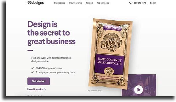 99Designs make money online