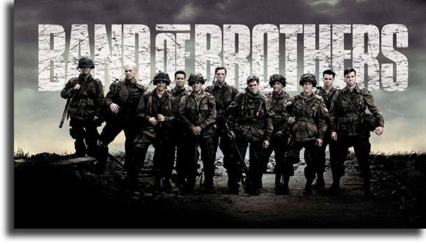 Band of Brothers melhores seriados de guerra