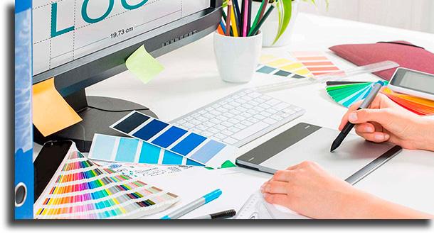 Designer gráfico profissões para trabalhar em casa
