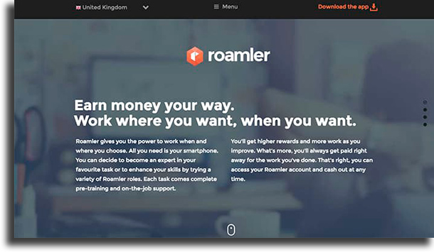 Roamler make money online