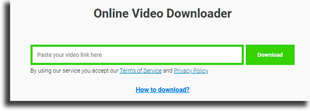 SaveFromNet websites to download YouTube videos