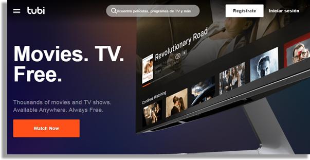 mejores servicios de streaming tubi