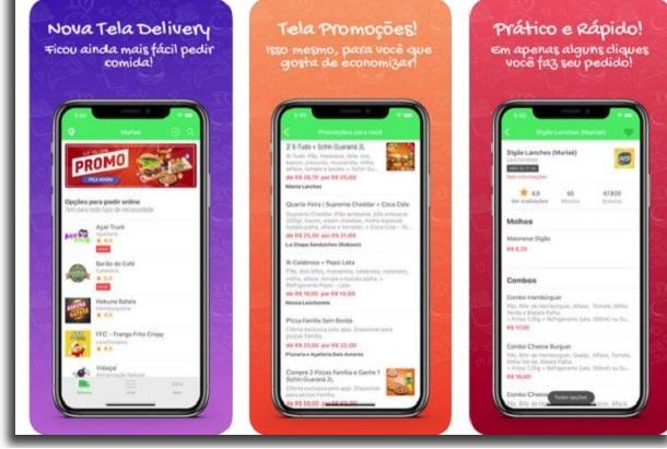 opções de apps que prometem entregas sem contato